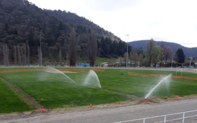 Sporting field irrigation systems